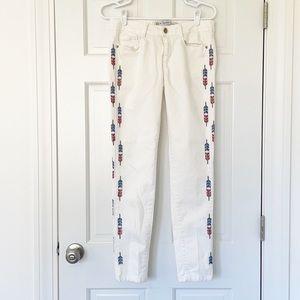 ZARA jeans size 6 white trafaluc skinny cotton